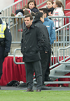 06 October 2012: D.C. United head coach Ben Olsen  during an MLS game between D.C. United and Toronto FC at BMO Field in Toronto, Ontario..D.C. United won 1-0..