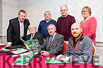 At the Cumann na mBunscol AGM at the Meadowlands hotel on Friday were front Robert Frost, Joe Lyons, Killian O' Reilly. Back Tomas O'hAinfein, Aodan Wrenn, Br. James Dormer, and Mired Ni Cheallachain, looking over the annual Report
