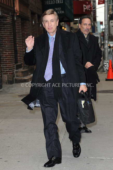 WWW.ACEPIXS.COM . . . . . <br /> January 7, 2014...New York City<br /> <br /> Marv Albert arrives to tape an appearance on the Late Show with David Letterman on January 7, 2015 in New York City.<br /> <br /> Please byline: Kristin Callahan...ACEPIXS.COM<br /> Tel: (212) 243 8787 or (646) 769 0430<br /> e-mail: info@acepixs.com<br /> web: http://www.acepixs.com