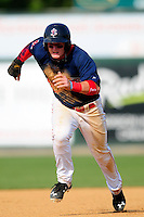 Lowell Spinners center fielder Tate Matheny (11) during  a game versus the Mahoning Valley Scrappers at Lelacheur Park on July 12, 2015 in Lowell, Massachusetts. (Ken Babbitt/Four Seam Images)