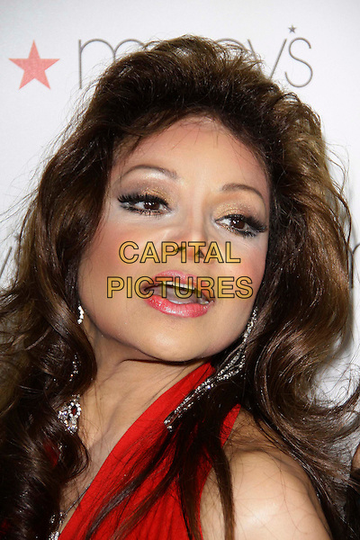LA TOYA JACKSON.Macy's Passport Presents Glamorama  held at The Orpheum Theatre, Los Angeles, California, USA..September 16th, 2010.headshot portrait latoya make-up beauty plastic surgery red mouth open.CAP/ADM/TC.©T. Conrad/AdMedia/Capital Pictures.