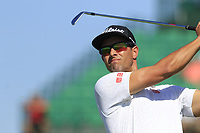 Adam Scott (AUS) tees off the par3 17th tee during Thursday's Round 1 of the 118th U.S. Open Championship 2018, held at Shinnecock Hills Club, Southampton, New Jersey, USA. 14th June 2018.<br /> Picture: Eoin Clarke | Golffile<br /> <br /> <br /> All photos usage must carry mandatory copyright credit (&copy; Golffile | Eoin Clarke)