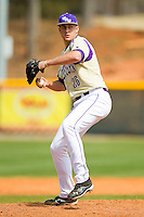 Western Carolina Catamounts relief pitcher Tyler Powell (26) in action against the Davidson Wildcats at Wilson Field on March 10, 2013 in Davidson, North Carolina.  The Catamounts defeated the Wildcats 5-2.  (Brian Westerholt/Four Seam Images)