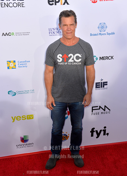 SANTA MONICA, CA. September 07, 2018: Josh Brolin at the 2018 Stand Up To Cancer fundraiser at Barker Hangar, Santa Monica Airport.