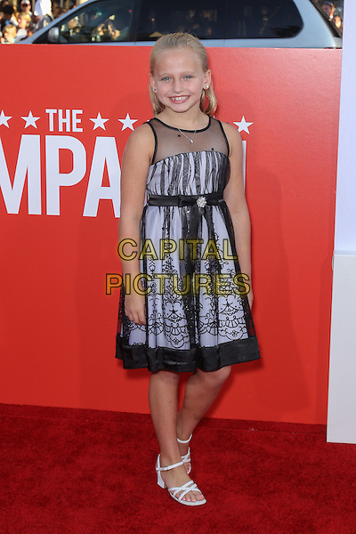 "MADISON WOLFE.Los Angeles premiere of Warner Brothers Pictures' ""The Campaign,"" at Grauman's Chinese Theatre in Hollywood. Hollywood, CA., USA. .August 2nd, 2012.full length blue tulle sheer black dress lace .CAP/CEL .©CelPh/Capital Pictures."