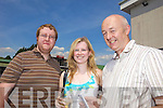Thomas O'Connor and Elaine and Donie Culloty from Castleisland  at Listowel Races on Sunday.
