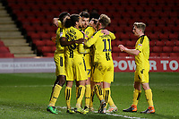 Burton players congratulate Lucas Akins after scoring their opening goal during Charlton Athletic vs Burton Albion, Sky Bet EFL League 1 Football at The Valley on 12th March 2019