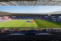 Interior view of the stadium prior to the Sky Bet Championship match between Swansea City and Cardiff City at the Liberty Stadium, Swansea, Wales, UK. Sunday 27 October 2019