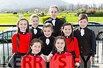 Kilcummin dancers at the Scor na bPaisti kerry South finals in Killarney on Sunday fronts row l-r: Alison Piggot, sarah Piggot, Caoimhe o'halloran, Maeve O'Connor, Dooireann Dwyer, eimear O'Sullivan, Sadbh O'Halloran, Michael Healy