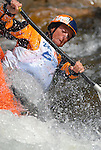 1 June 2007:  Australian kayaker, Tonya Faux,  competes in the Women's Pro Freestyle Kayak competition at the Teva Mountain Games, Vail, Colorado.