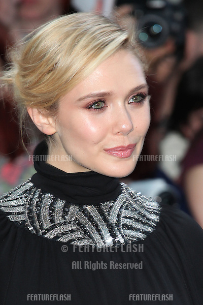 Elizabeth Olsen arriving for the Avengers: Age Of Ultron premiere, at Westfield Shepherd's Bush, London. 21/04/2015 Picture by: Alexandra Glen / Featureflash