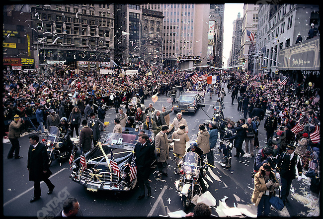 Tickertape parade on Broadway for the return of the Americans held hostage in Iran. New York City, USA, January 1981.