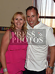 paul Scanlon celebrating his 40th birthday with his wife Eleanor in The Thatch. Photo:Colin Bell/pressphotos.ie