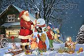 Interlitho, Patricia, CHRISTMAS SANTA, SNOWMAN, paintings, santa, kids, dog, snowman, KL5857,#X# Weihnachten, nostalgisch, Navidad, nostálgico, illustrations, pinturas