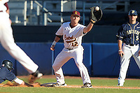 Central Michigan Chippewas Brendan Emmett #12 during a game vs. the Pittsburgh Panthers at Chain of Lakes Park in Winter Haven, Florida;  March 11, 2011.  Pittsburgh defeated Central Michigan 19-2.  Photo By Mike Janes/Four Seam Images