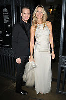 LONDON, ENGLAND - NOVEMBER 27: Melissa Odabash and guest at the Royal Osteoporosis Gala Dinner, Banqueting House, Whitehall on Wednesday 27 November 2019 in London, England, UK. <br /> CAP/CAN<br /> ©CAN/Capital Pictures