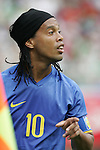 10 August 2008: Ronaldinho (BRA).  The men's Olympic soccer team of Brazil defeated the men's Olympic soccer team of New Zealand 5-0 at Shenyang Olympic Sports Center Wulihe Stadium in Shenyang, China in a Group C round-robin match in the Men's Olympic Football competition.