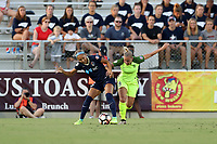 Cary, North Carolina  - Saturday August 05, 2017: Jaelene Hinkle and Merritt Mathias during a regular season National Women's Soccer League (NWSL) match between the North Carolina Courage and the Seattle Reign FC at Sahlen's Stadium at WakeMed Soccer Park. The Courage won the game 1-0.