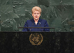 Opening of GA 72 2017 AM<br /> <br /> Her Excellency Dalia Grybauskaitė, President of the Republic of Lithuania