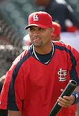 Albert Pujols of the St. Louis Cardinals vs. the Atlanta Braves March 16th, 2007 at Champion Stadium in Orlando, FL during Spring Training action.  Photo copyright Mike Janes Photography 2007.