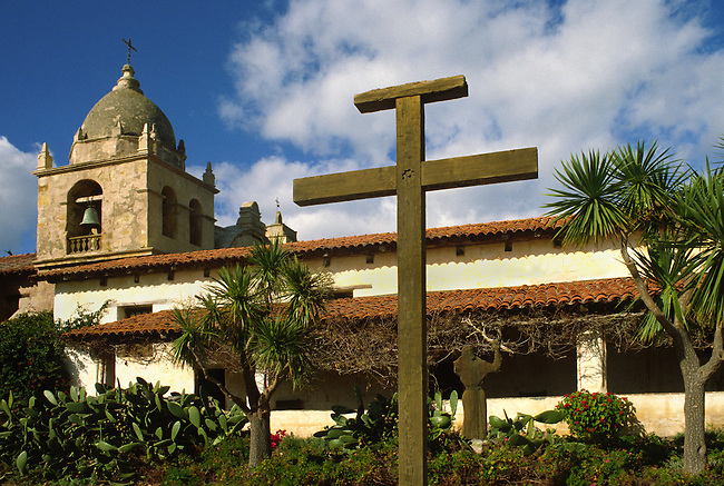 The CARMEL MISSION, one of CALIFORNIA'S Catholic Missions founded by father JUNIPERO SERA