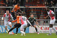 Josh Walker of Barnet shoots during Barnet vs Woking, Vanarama National League Football at the Hive Stadium on 12th October 2019