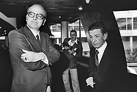 - Bettino Craxi, segretario del PSI (Partito Socialista Italiano) con Enrico Berlinguer, segretario del PCI (Partito Comunista Italiano), Strasburgo, 1977....- Bettino Craxi, secretary of the PSI (Italian Socialist Party) with Enrico Berlinguer, secretary of the PCI (Italian Communist Party), Strasbourg, 1977