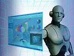 Robot using a virtual screen for stock trading