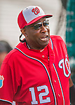 5 March 2016: Washington Nationals Manager Dusty Baker watches batting practice prior to a Spring Training pre-season game against the Detroit Tigers at Space Coast Stadium in Viera, Florida. The Nationals defeated the Tigers 8-4 in Grapefruit League play. Mandatory Credit: Ed Wolfstein Photo *** RAW (NEF) Image File Available ***