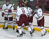 Luke McInnis (BC - 3), Scott Savage (BC - 2), Chris Calnan (BC - 11), Julius Mattila (BC - 26), Graham McPhee (BC - 27) - The visiting University of Vermont Catamounts tied the Boston College Eagles 2-2 on Saturday, February 18, 2017, Boston College's senior night at Kelley Rink in Conte Forum in Chestnut Hill, Massachusetts.Vermont and BC tied 2-2 on Saturday, February 18, 2017, Boston College's senior night at Kelley Rink in Conte Forum in Chestnut Hill, Massachusetts.