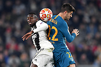 Blaise Matuidi of Juventus and Alvaro Morata of Atletico Madrid compete for the ball during the Uefa Champions League 2018/2019 round of 16 second leg football match between Juventus and Atletico Madrid at Juventus stadium, Turin, March, 12, 2019 <br />  Foto Andrea Staccioli / Insidefoto