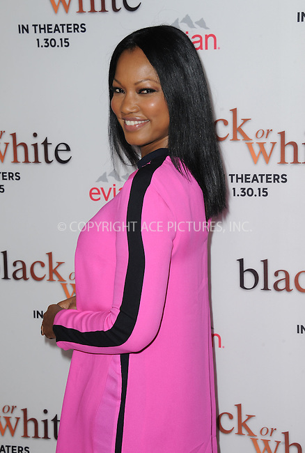 WWW.ACEPIXS.COM<br /> <br /> January 20 2015, LA<br /> <br /> Garcelle Beauvais arriving at the premiere of Relativity Media's 'Black or White' at Regal Cinemas L.A. Live on January 20, 2015 in Los Angeles, California.<br /> <br /> By Line: Peter West/ACE Pictures<br /> <br /> <br /> ACE Pictures, Inc.<br /> tel: 646 769 0430<br /> Email: info@acepixs.com<br /> www.acepixs.com