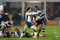 Semesa Rokoduguni of Bath Rugby takes on the Northampton Saints defence. Aviva Premiership match, between Bath Rugby and Northampton Saints on February 10, 2017 at the Recreation Ground in Bath, England. Photo by: Patrick Khachfe / Onside Images