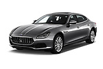 2018 Maserati Quattroporte S 2WD 4 Door Sedan angular front stock photos of front three quarter view