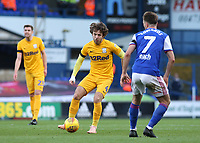 Preston North End's Ben Pearson takes on Ipswich Town's Gwion Edwards<br /> <br /> Photographer David Shipman/CameraSport<br /> <br /> The EFL Sky Bet Championship - Ipswich Town v Preston North End - Saturday 3rd November 2018 - Portman Road - Ipswich<br /> <br /> World Copyright &copy; 2018 CameraSport. All rights reserved. 43 Linden Ave. Countesthorpe. Leicester. England. LE8 5PG - Tel: +44 (0) 116 277 4147 - admin@camerasport.com - www.camerasport.com