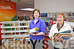 Cahersiveen Library will reopen on Tuesday next 20th March, having had a huge make over, pictured here the librarians l-r; Hazel Joy & Noreen O'Sullivan making final adjustments to their new facility.