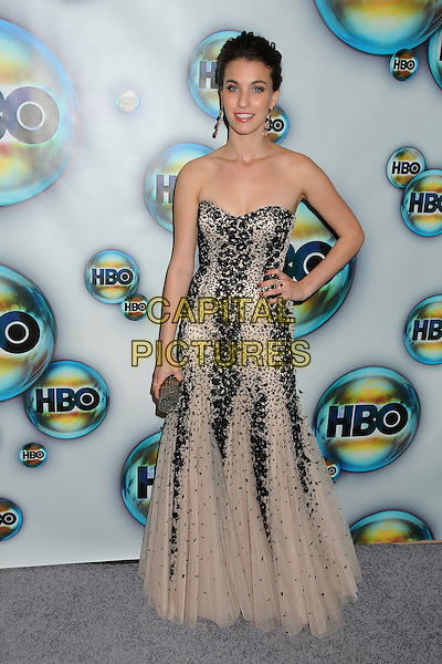 Rainey Qualley.HBO 2012 Golden Globe Awards Post Party held at Circa 55 Restaurant, Beverly Hills, California, USA..January 15th, 2012.globes full length cream beige strapless beads beaded hand on hip dress black .CAP/ADM/BP.©Byron Purvis/AdMedia/Capital Pictures.