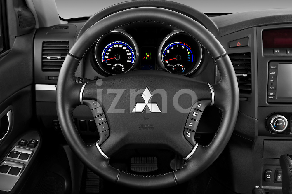 Steering wheel view of a 2009 Mitsubishi Pajero InStyle 5 Door SUV