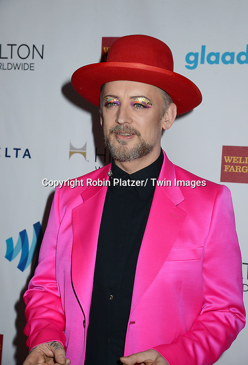 Boy George attends the 25th Annual GLAAD Media Awards at the Waldorf Astoria Hotel in New York City, NY on May 3, 2014.