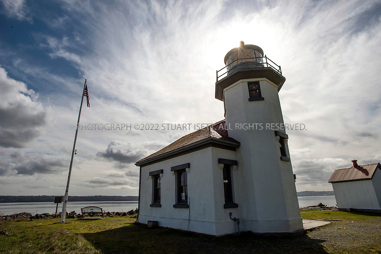3/21/2012--Vashon Island, WA, USA..Point Robinson Lighthouse on Maury Island, which is actually now connected to Vashon Island by an isthmus that was built in 1916. the lighthouse sits in a park one to the public...©2012 Stuart Isett. All rights reserved.