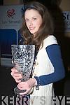 OVERWINNER: Emer O'Shea Currow overall winn of the Lee Stran Kerry Garda Youth Award on Friday night in Ballyroe Heights Hotel, Tralee ............ . ............................... ..........