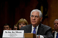 Secretary Of State Rex Tillerson testifies at the Senate Appropriations Subcommittee on State and Foreign Operations budget funding for FY 2018 in Washington, DC. June 13, 2017. Credit: Mark Reinstein/MediaPunch
