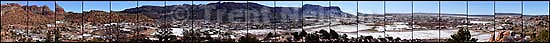 Panorama of Hildale and Colorado City. polygamy.<br />