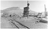 D&amp;RGW Durango yard with experimental locomotive and car washer.<br /> D&amp;RGW  Durango, CO  1964
