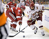 Jack Christian (Harvard - 5), Matt Lombardi (BC - 24) - The Boston College Eagles defeated the Harvard University Crimson 6-0 on Monday, February 1, 2010, in the first round of the 2010 Beanpot at the TD Garden in Boston, Massachusetts.