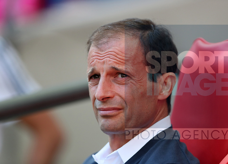 Juventus Massimiliano Allegri looks on during the pre season match at Wembley Stadium, London. Picture date 5th August 2017. Picture credit should read: David Klein/Sportimage