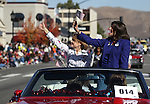 Treasurer Kate Marshall, left, and Rep. Shelley Berkley, D-Nev., ride in the Nevada Day parade in Carson City, Nev. on Saturday, Oct. 27, 2012. .Photo by Cathleen Allison