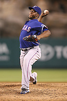 08/16/11 Anaheim, CA: Texas Rangers relief pitcher Neftali Feliz #30 during an MLB game played between the Texas Rangers and the Los Angeles Angels at Angel Stadium. The Rangers defeated the Angels 7-3.