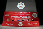 The 2019 UAE Tour, Mark Cavendish (GBR) Team Dimension Data, Fernando Gaviria (COL) UAE Team Emirates, World Champion Alejandro Valverde (ESP) Movistar Team, Tom Dumoulin (NED) Team Sunweb, Vincenzo Nibali (ITA) Bahrain Merida and Elia Viviani (ITA) Deceuninck-Quick Step spoke to the media this afternoon in Louvre Abu Dhabi, United Arab Emirates. 23rd February 2019.<br />