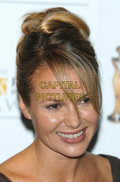 AMANDA HOLDEN.photo room at the Pantene Pro-V Awards at the Royal Albert Hall, London, UK..October 22nd, 2002.headshot portrait .CAP/PL.©Phil Loftus/Capital Pictures